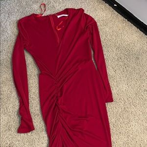 Dresses & Skirts - Beautiful red skin tight asymmetrical dress